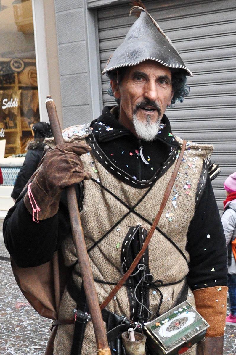 Medieval vagrant, Treviso Carnival 2016, Treviso, Veneto, Italy