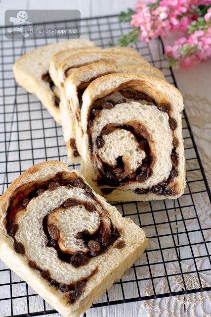 super soft moist cinnamon sultana raisin swirl bread