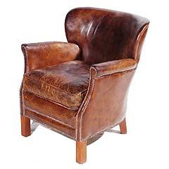 Foxtrot Musings Leather Professor Chair