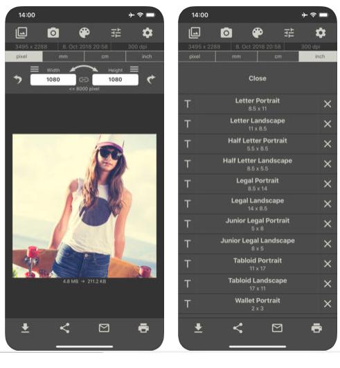 Merubah Resolusi Gambar Fotor iPhone iPad