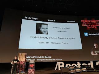 RootedCon 2020 - Mario Perez de la Blanca - AFDX Twin (manipulando redes de aviónica)
