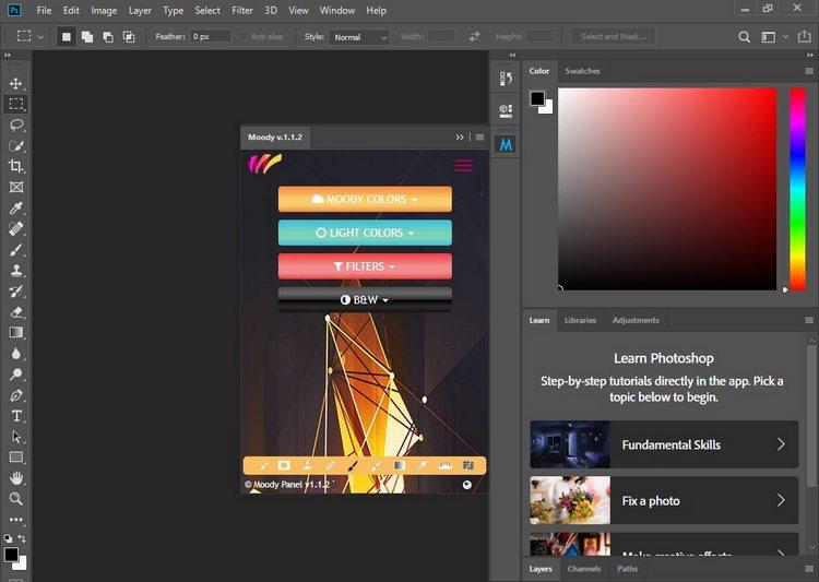 Moody Photoshop Panel v1.1.2 Full version