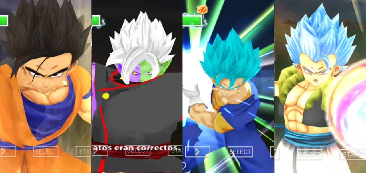 Dragon Ball Super all Fusions in DBZ TTT Mod