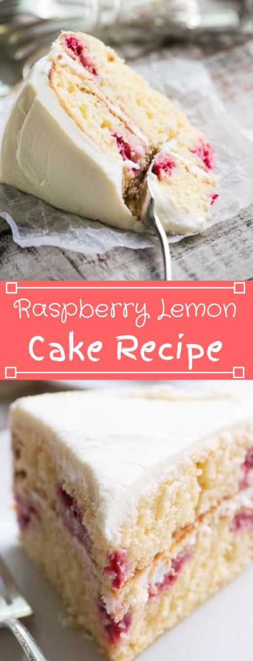 RASPBERRY LEMON CAKE #lemon #desserts #cakes #raspberry #yummy