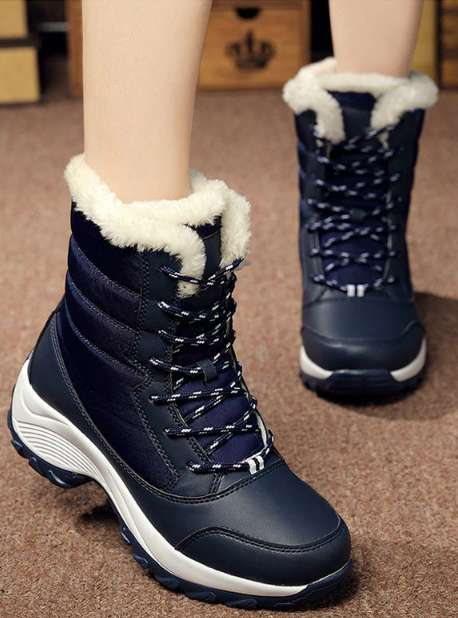 Women Winter Boots Waterproof Women Snow Shoes Warm Thick Fur Winter Boots