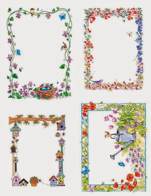 Bordes Florales para Imprimir Gratis.