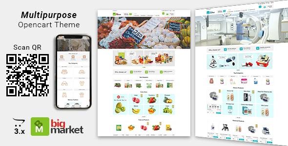 Bigmarket - Multipurpose Responsive  Opencart Theme