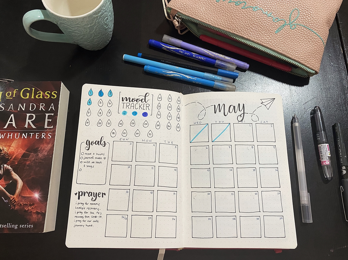 May Bullet Journal Spread