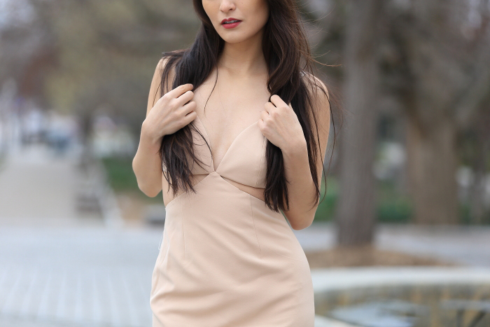 gorgeous nude dresses from Fame and Partners
