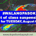 #WALANGPASOK: List of class suspensions for Tuesday, August 6