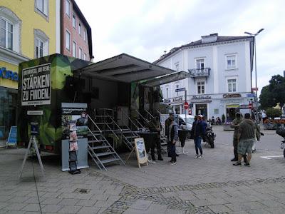 Bundeswehr auf dem Maxplatz Traunstein
