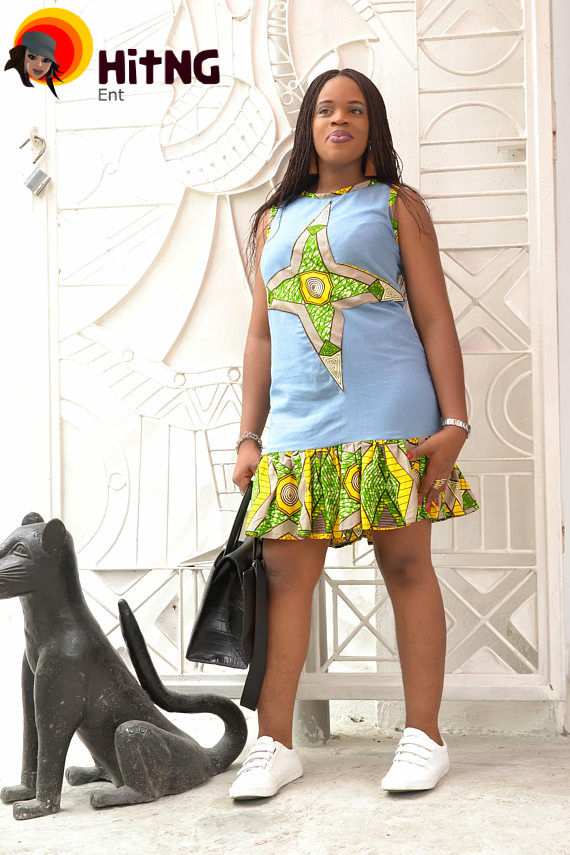 Jean Gown With Ankara Patches: Top 15 Styles