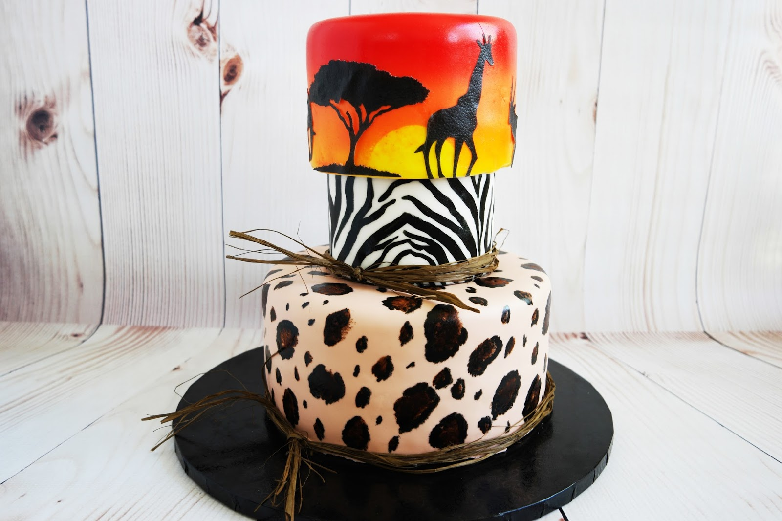 Incredible Padicakes African Serengeti 40Th Birthday Cake Funny Birthday Cards Online Overcheapnameinfo