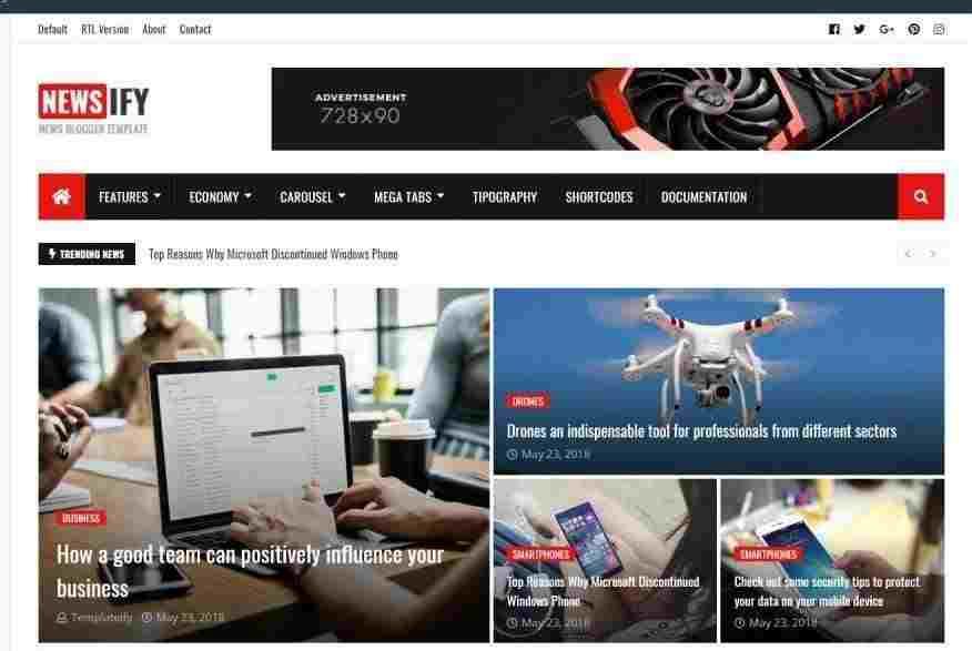 Newsify V1.1 – Responsive Premium Blogger Template