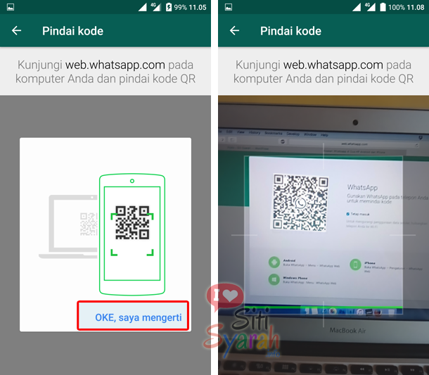 cara scan code whatsapp web