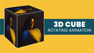 3D Rotating Cube CSS Animation
