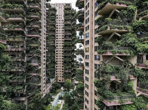 Qiyi City Forest Garden Residential Complex, Chengdu, China