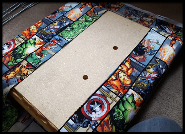 using Marvel fabric to reupholster a stool
