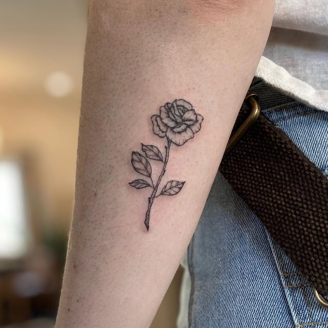 rose tattoo - small tattoo ideas for women