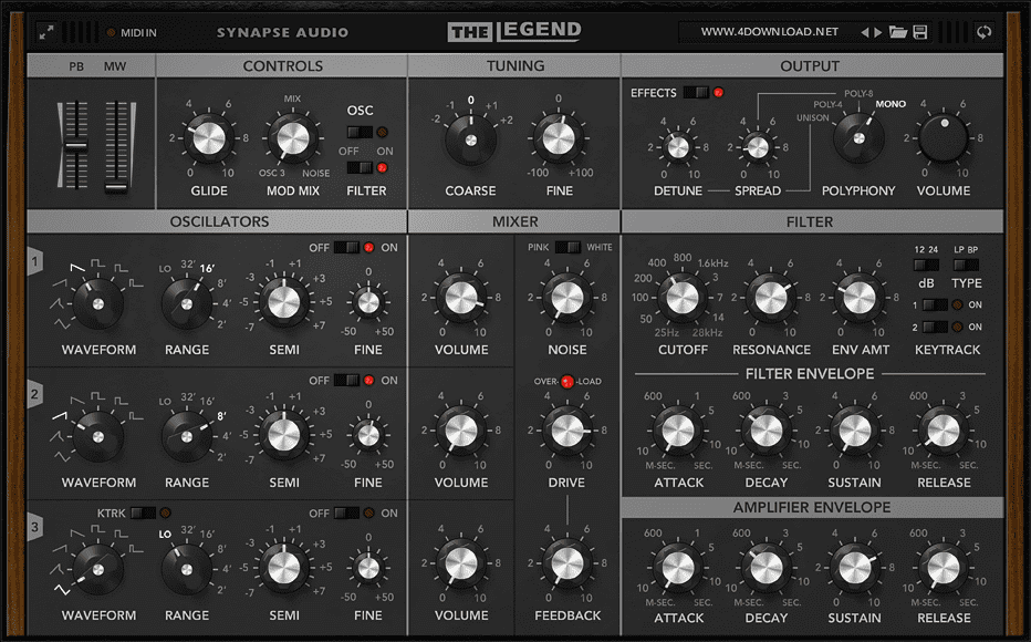 Synapse Audio - The Legend Full version FOR FREE