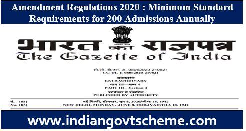 Amendment Regulations 2020