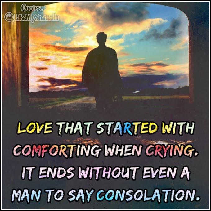 Love that started with | Sad Love Quote