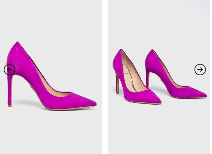 Baldowski - Pantofi cu toc fuscia eleganti din piele naturala moderni