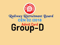 rrb group d admit card 2018 rrbonlinereg.in cen 02 2018 admit card