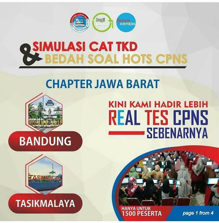 Simulasi CAT TKD & Bedah Soal Hots CPNS Bandung Desember 2019