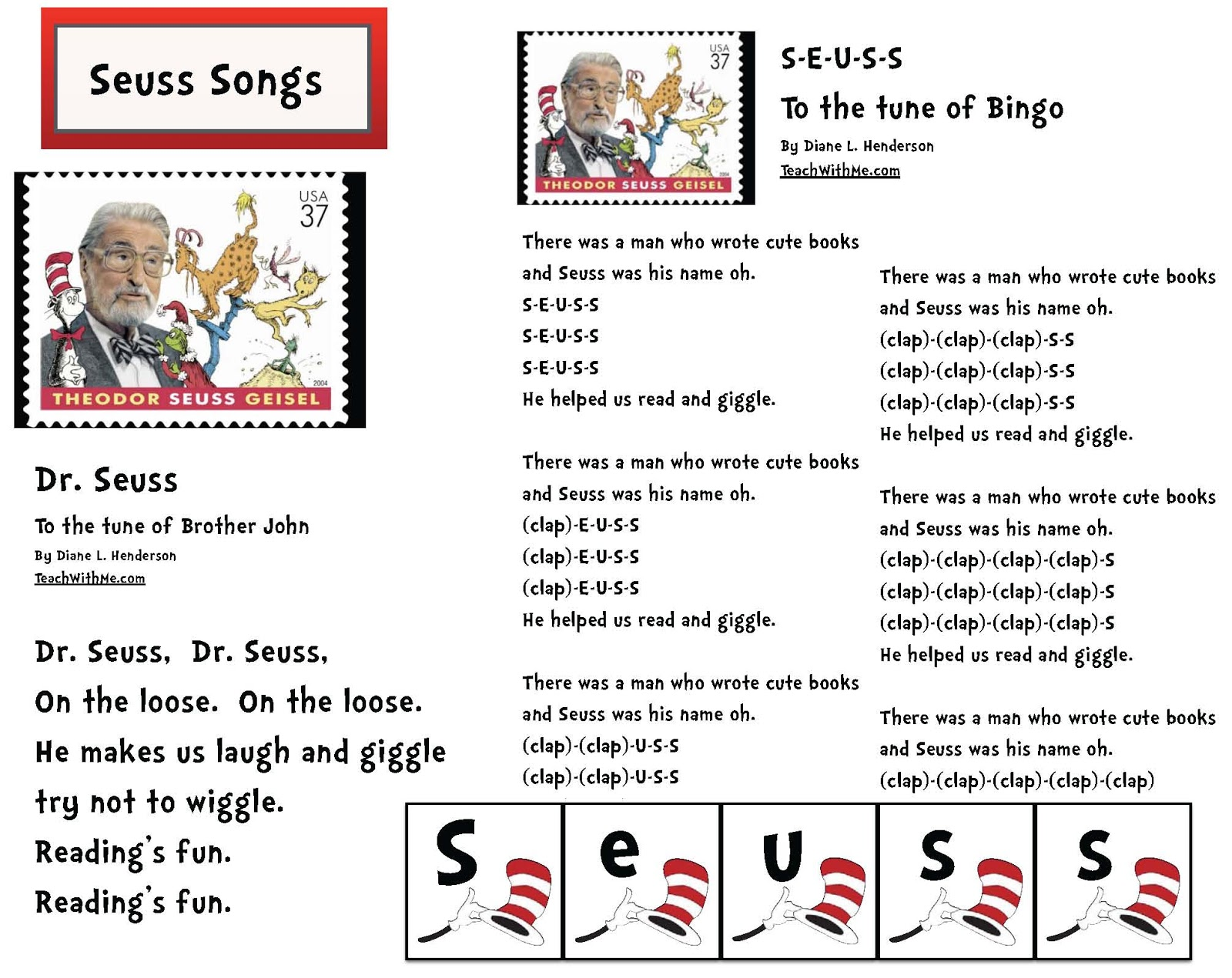 Silly Seuss Songs