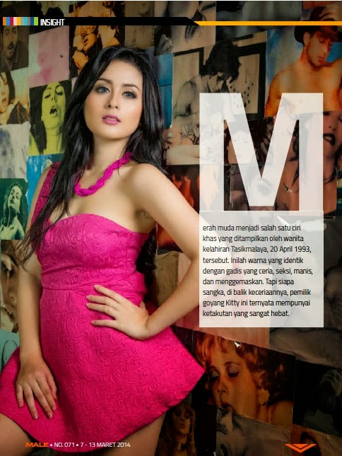 Selvi Kitty Pinky on Male Magazine March 2014
