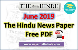 The Hindu Newspaper Pdf Download - June 2019