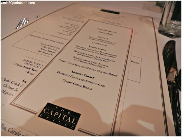 Menú Dine Out Boston 2016: The Capital Grille