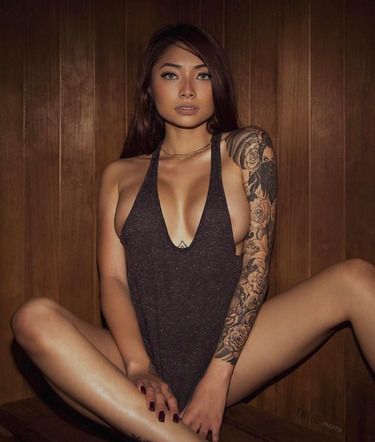 Tattooed model Cassie Trinh