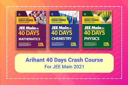 [PDF] Arihant JEE Main in 40 Days Crash Course | Latest Edition eBook