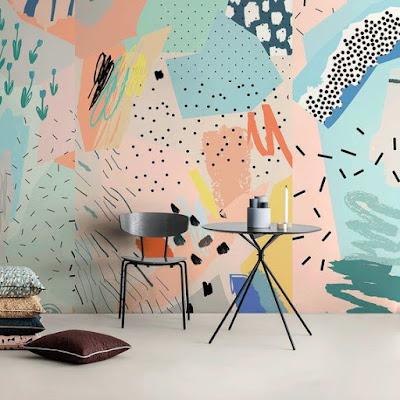 contoh gambar mural abstrak