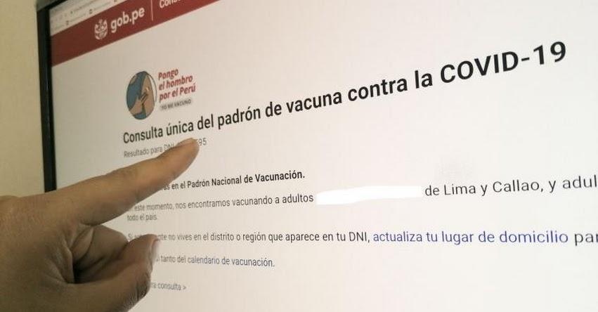 MINSA: Padrón oficial de adultos mayores entre 58 y 59 años que serán vacunados este 25 de Junio [INGRESA TU DNI] www.pongoelhombro.gob.pe