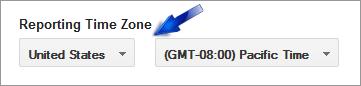 analytics time zone settings