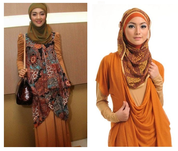 Contoh Koleksi Desain Model Baju Muslim Batik Modern ...