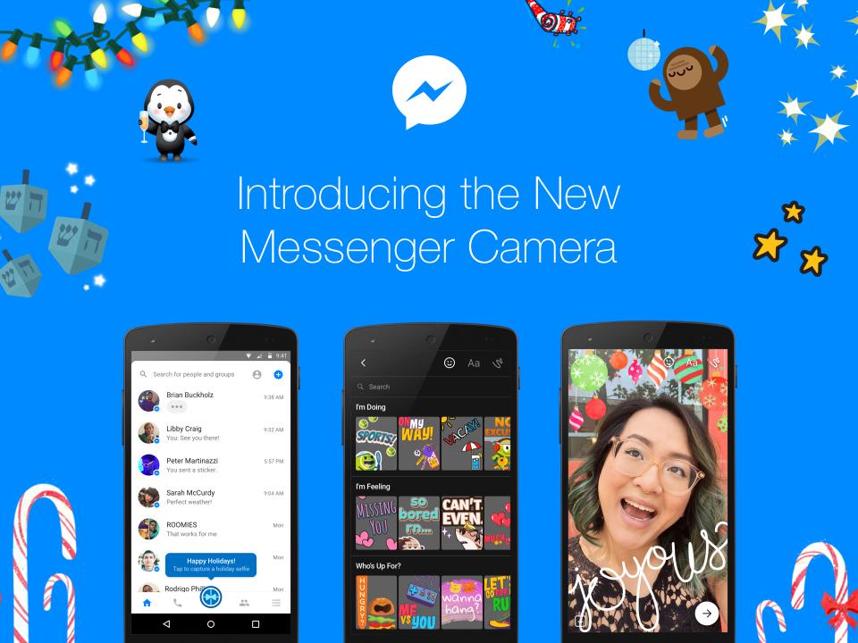 Nuova Messenger Camera in arrivo su Android e iOS HTNovo
