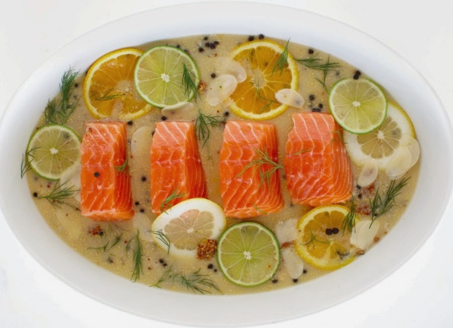 Poached Salmon in Orange Sauce