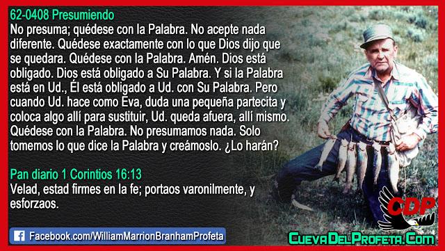 No se quede fuera, quédese con la Palabra - William Branham en Español