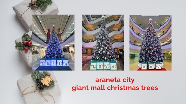 Araneta City lightens up giant mall Christmas trees with positive messages