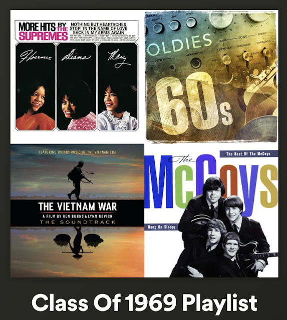 d5a0832a8555eb Thanks so much to our classmate Jim Rogers who put together this excellent  playlist of music which was popular during our years at ND (link).