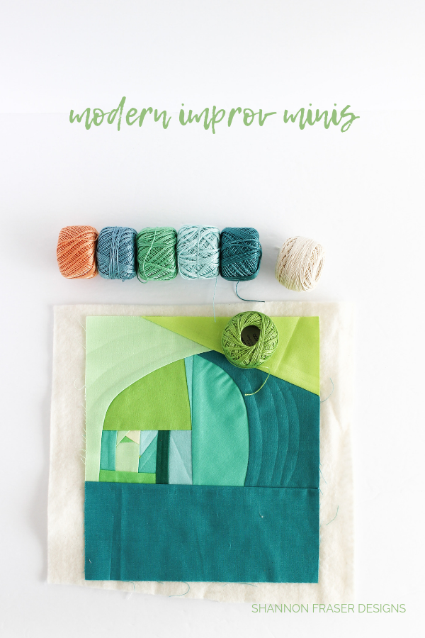 Modern improv mini #100daysofsfDminis | What's in my travel sewing bag | Shannon Fraser Designs