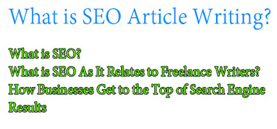 What is SEO Article Writing?
