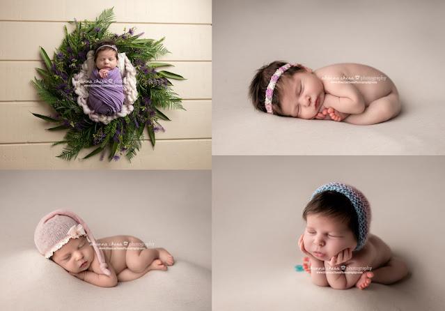 Eugene/Springfield area newborn photography, baby girl photo collage