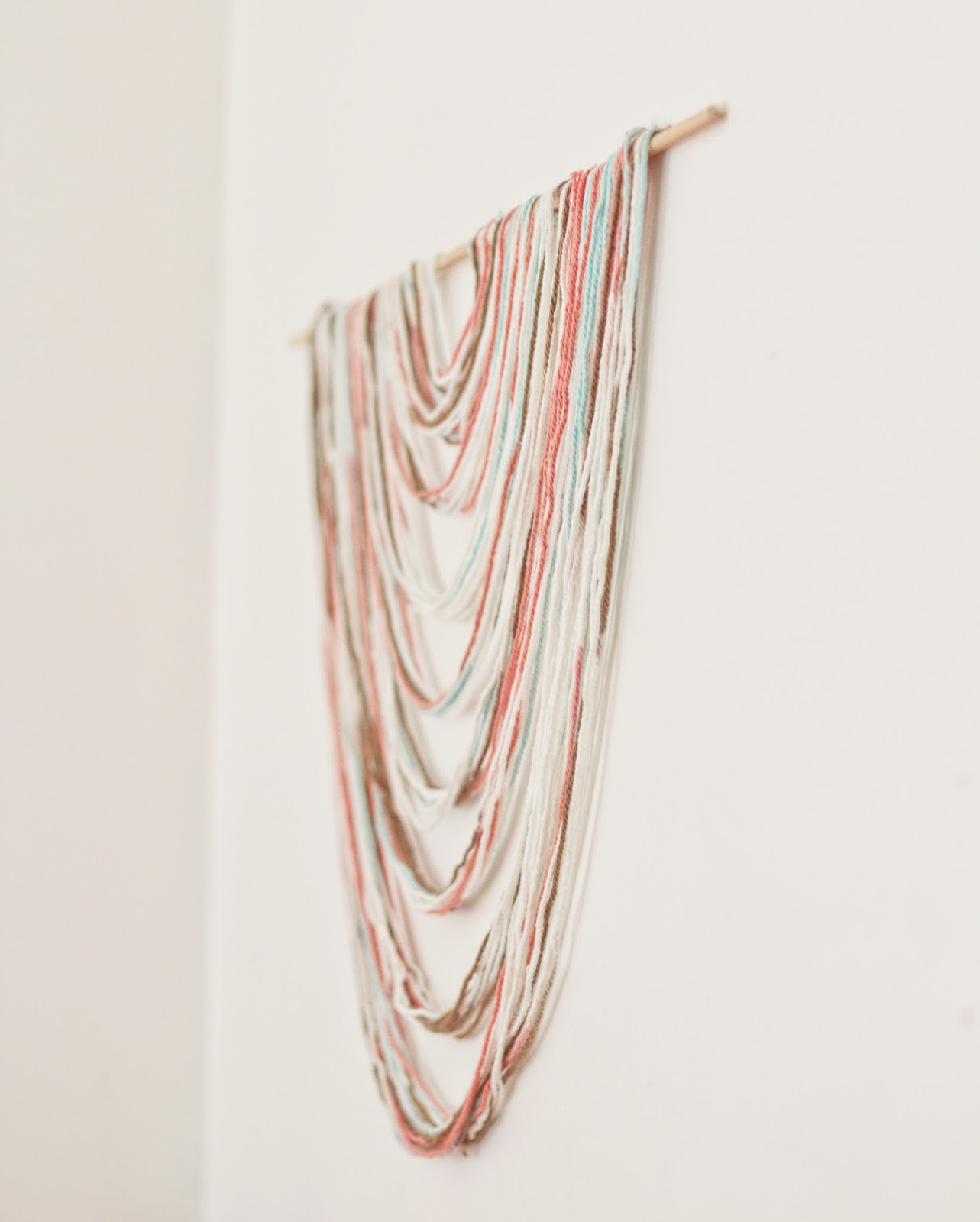 Easy No Weave DIY Wall Hanging for Less than $4