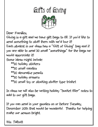 letter asking for christmas gifts me and my third grade gifts of giving 22588