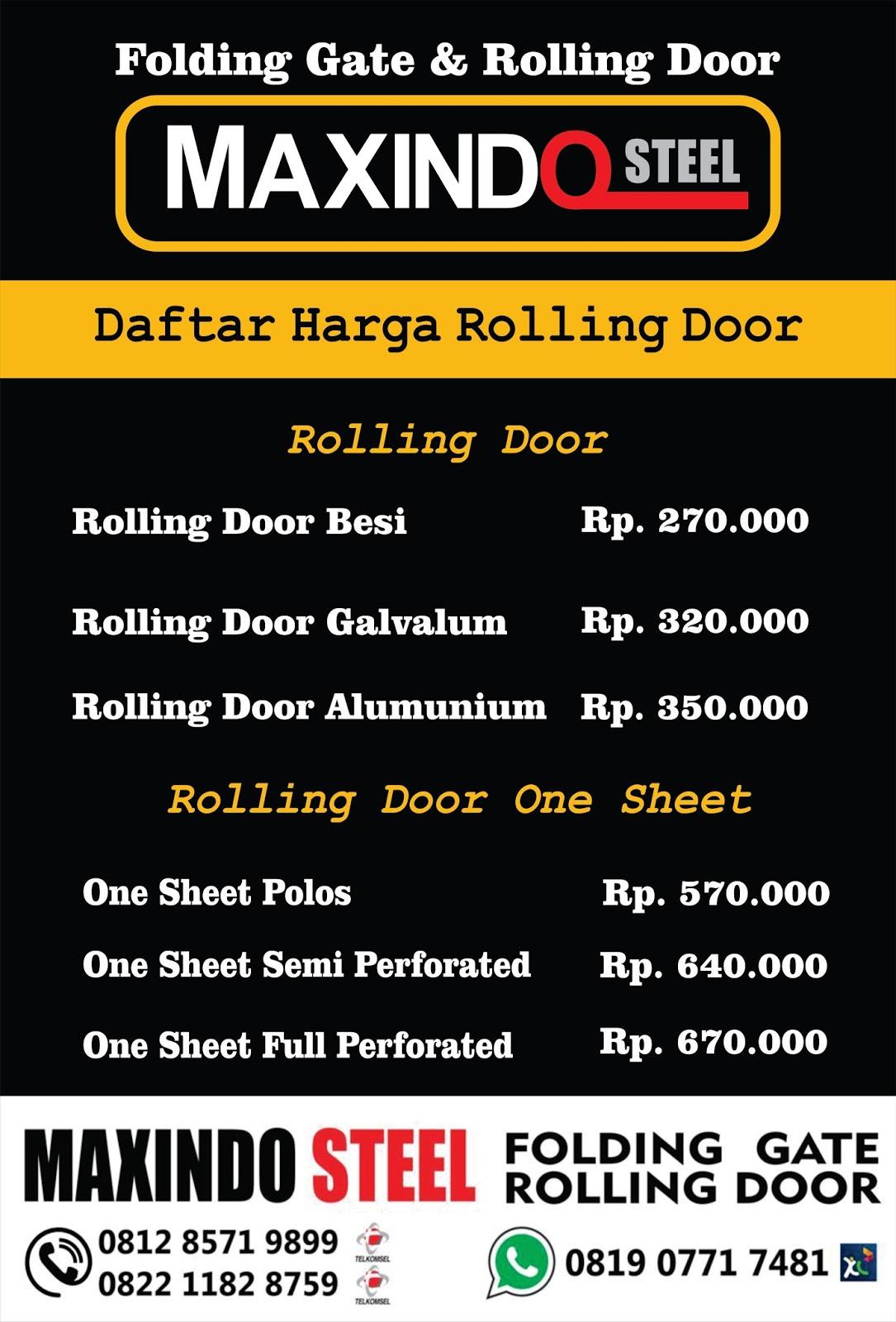 DAFTAR HARGA ROLLING DOOR DAN FOLDING GATE : DAFTAR HARGA FOLDING ...